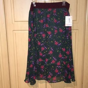 LuLaRoe Skirts - NWT XL LulaRoe Lola Floral skirt with liner